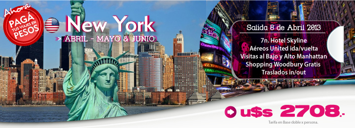 New York - Abril a Junio
