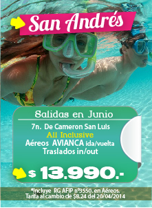 Paquetes a San Andres - Junio